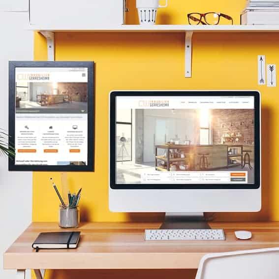 Gestaltung Webseite Immobilenmakler CW Immobilien Gerresheim GmbH