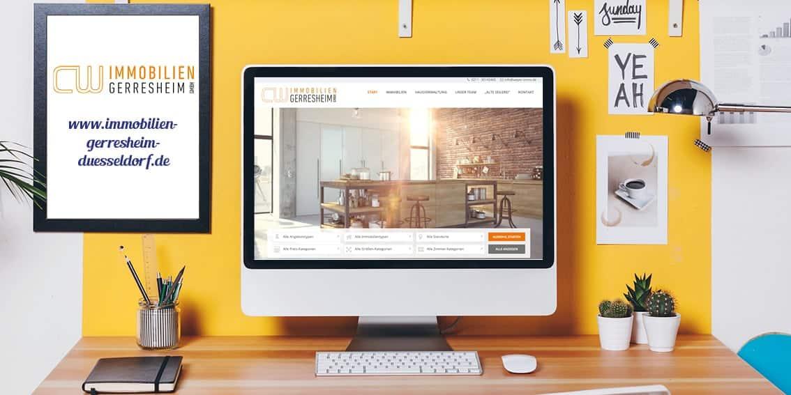 Relaunch Webseite für CW Immobilien Gerresheim von Kommercial Werbeagentur