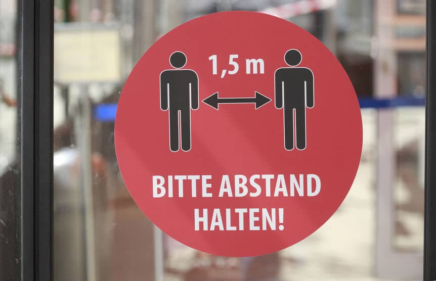 Abstand halten - Wir helfen Ihnen bei der Ladeneröffnung