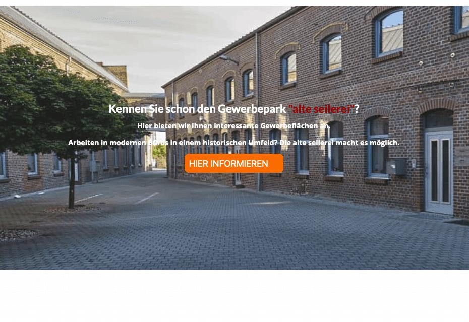 Relaunch Webseite alte seilerei für CW Immobilien Gerresheim von Kommercial Werbeagentur