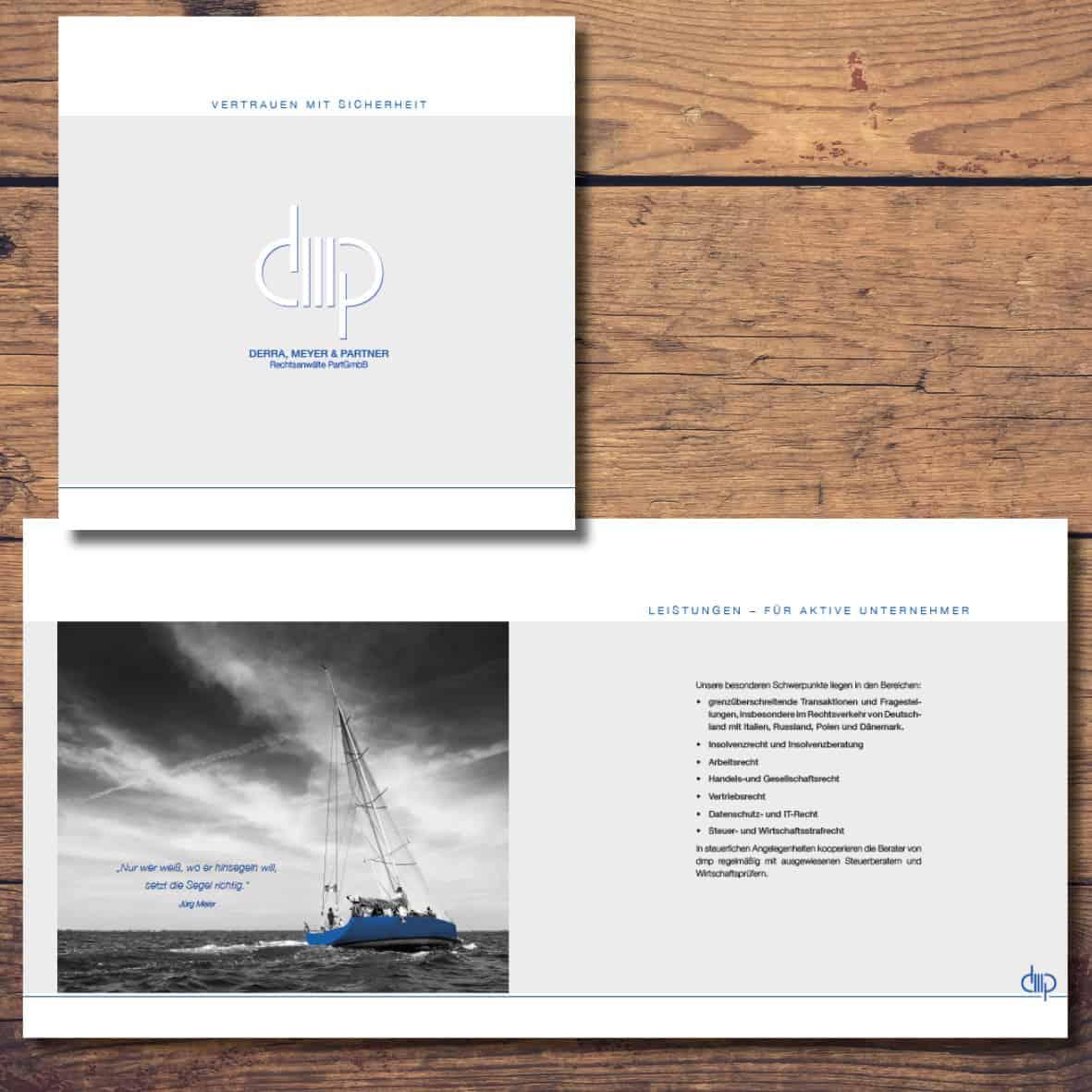 Broschüre Anwaltskanzlei Derra Meyer & Parner