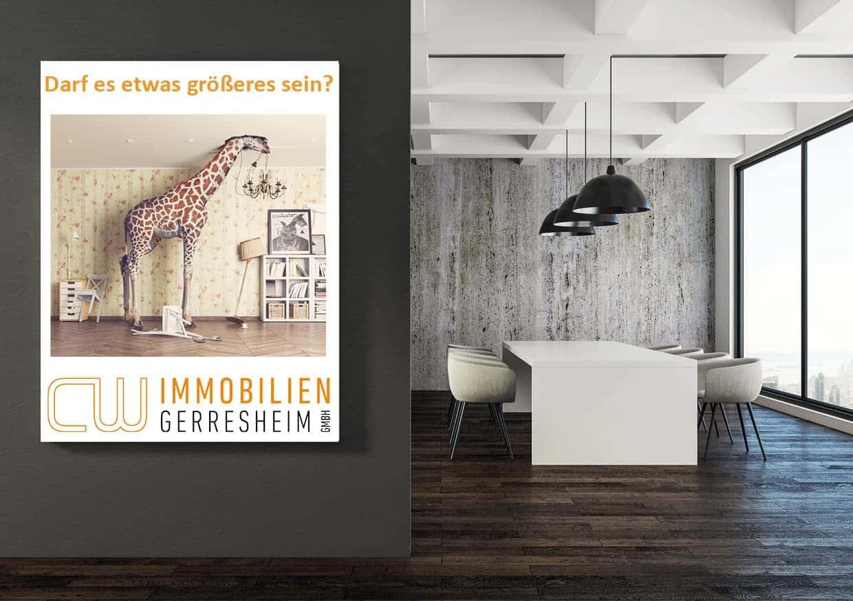 Poster Giraffe CW Immobilien Gerresheim
