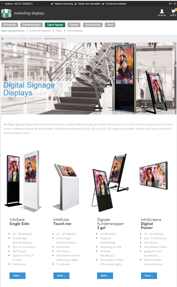 Digital Signage marketing-displays Displays